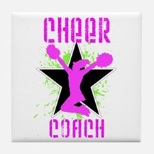 Cheer Coach Tile Coaster