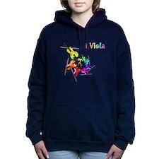 Funny Viola Women's Hooded Sweatshirt