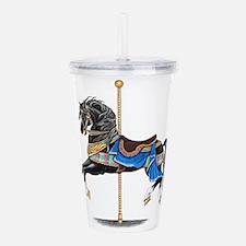 Black Carousel Horse Acrylic Double-wall Tumbler
