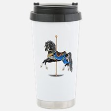 Black Carousel Horse Travel Mug