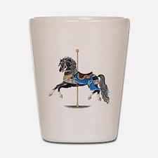 Black Carousel Horse Shot Glass