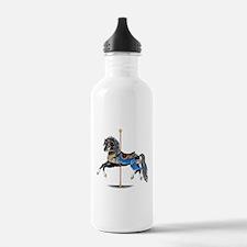 Black Carousel Horse Water Bottle