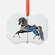 Black Carousel Horse Ornament