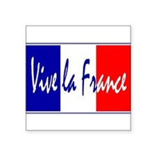 "Cute Bastille day Square Sticker 3"" x 3"""