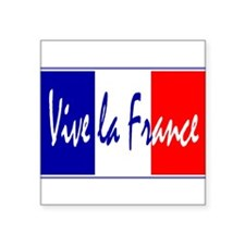 "Unique French flag Square Sticker 3"" x 3"""