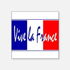 "Unique France Square Sticker 3"" x 3"""