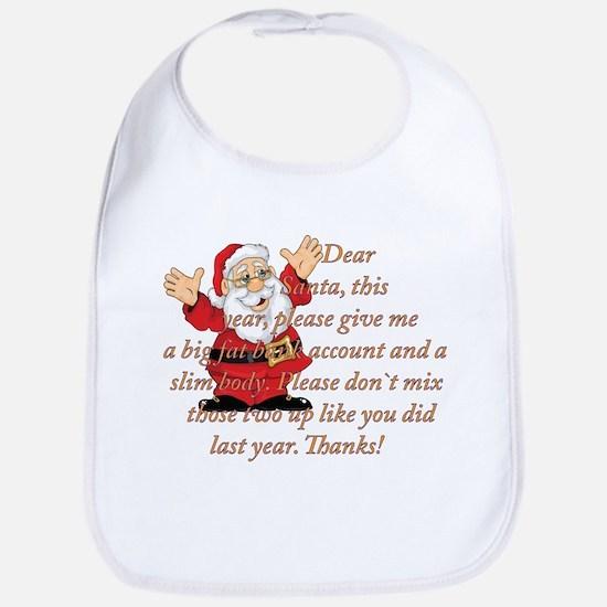 Santa Letter Bib