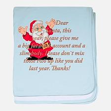 Santa Letter baby blanket