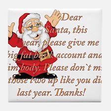 Santa Letter Tile Coaster