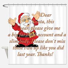 Santa Letter Shower Curtain