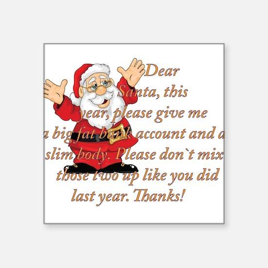 Santa Letter Sticker