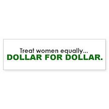 Equal Pay Bumper Bumper Sticker