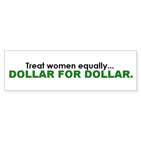 Equal Pay Bumper Sticker