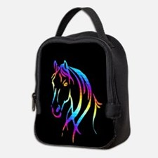 Colorful Horse Neoprene Lunch Bag