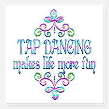 """Tap Dancing Fun Square Car Magnet 3"""" x 3"""""""