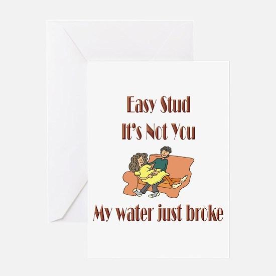 My water broke Greeting Card