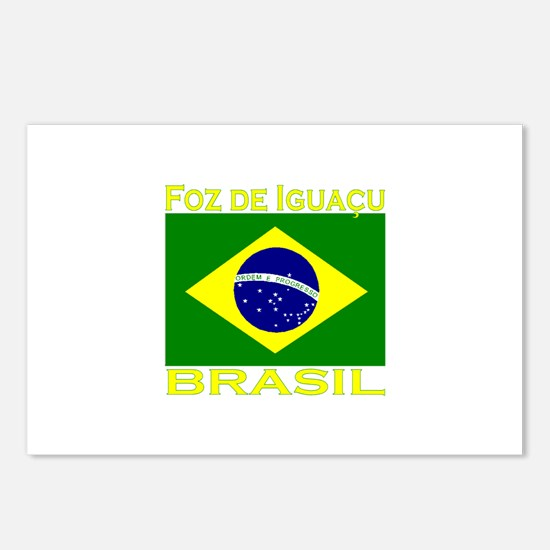 Foz de Iguacu, Brasil Postcards (Package of 8)