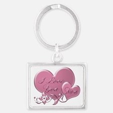 I Love You More Landscape Keychain Keychains