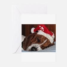 Cute Basset hound dog Greeting Cards (Pk of 10)