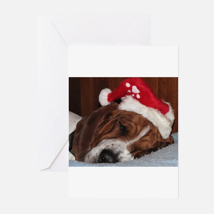 Cute Basset hound Greeting Cards (Pk of 10)