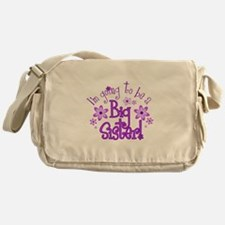 Im going to be a big sister Messenger Bag