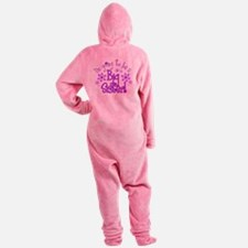 Im going to be a big sister Footed Pajamas