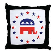 Classic Republican Elephant Logo Throw Pillow