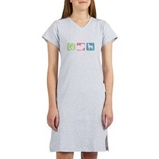 Cute I love my red lored amazon Women's Nightshirt
