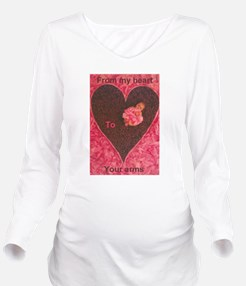 Cute Baby heart pink personalized Long Sleeve Maternity T-Shirt