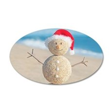 Beach Snowman Wall Decal
