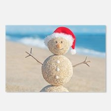 Beach Snowman Postcards (Package of 8)