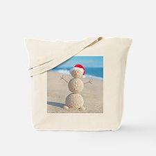 Beach Snowman Tote Bag