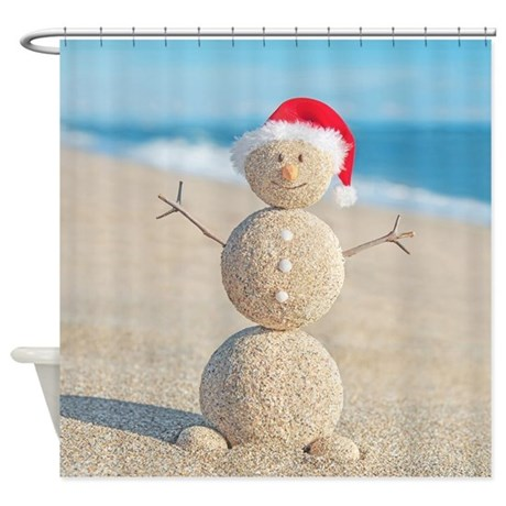 Snowman Shower Curtain Jolly Snowman Shower Curtain