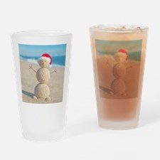 Beach Snowman Drinking Glass