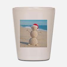 Beach Snowman Shot Glass