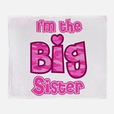 Im the big sister Throw Blanket