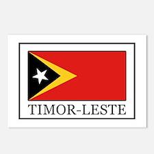 Cute East timor flag Postcards (Package of 8)