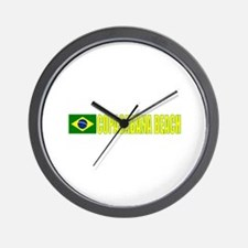 Copacabana Beach, Brazil Wall Clock