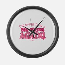 Im going to be a big sister again Large Wall Clock