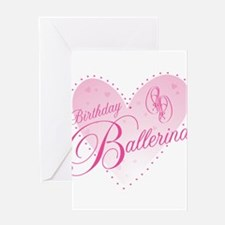 Birthday Ballerina Greeting Cards
