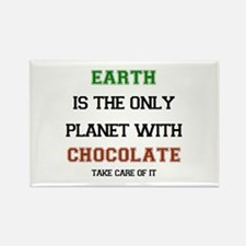 earth has chocolate Rectangle Magnet