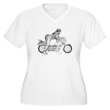 Bigfoot Biker Chick.tif Plus Size T-Shirt