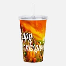 Thanksgiving Acrylic Double-wall Tumbler