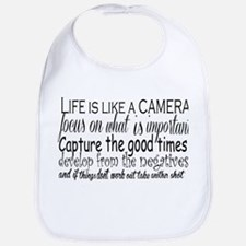 life is like a camera Bib