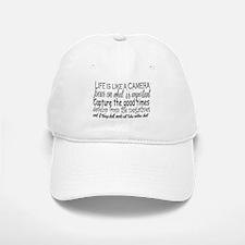 life is like a camera Baseball Baseball Cap