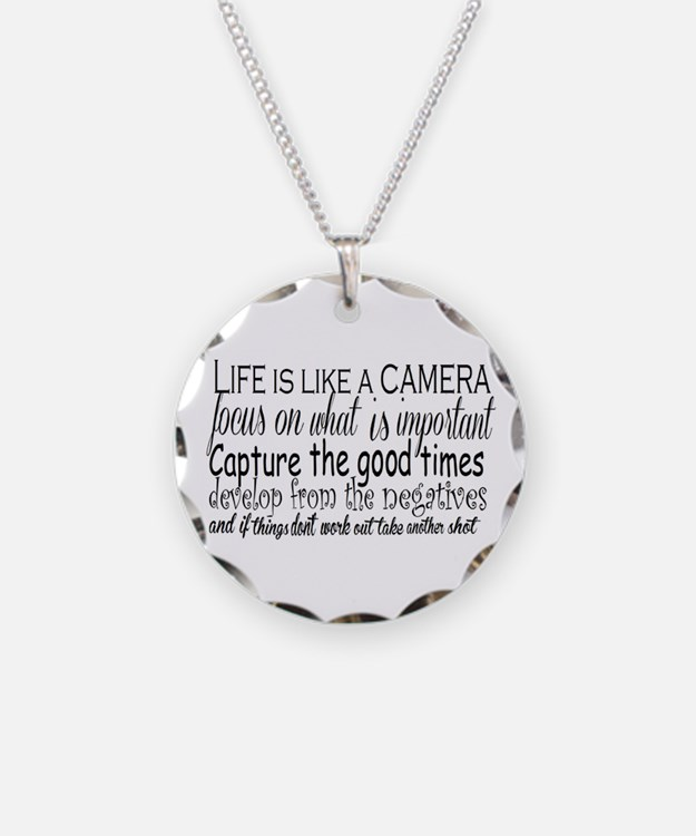 life is like a camera Necklace