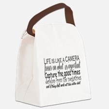 life is like a camera Canvas Lunch Bag