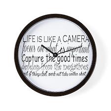 life is like a camera Wall Clock