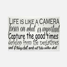 life is like a camera Magnets