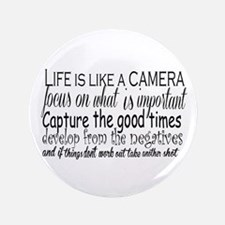 "life is like a camera 3.5"" Button (100 pack)"